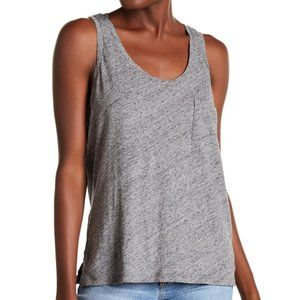MADEWELL Slub Knit Scoop Neck Tank Top Gray XL